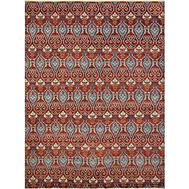 Bloomsbury Market Harkness Hand-Knotted Wool Red Area Rug