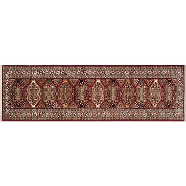 Bloomsbury Market Chanell Hand-Knotted Wool Red Area Rug