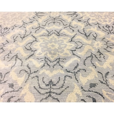Bloomsbury Market Harkness Hand-Knotted Wool Ivory/Gray Area Rug