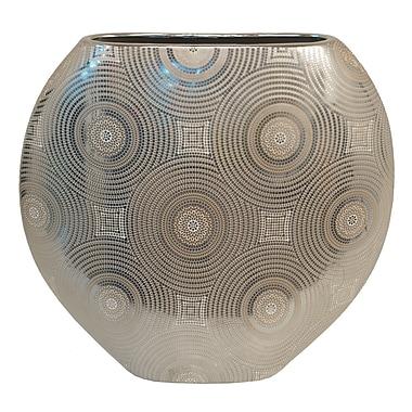 Bloomsbury Market Round Gold Ceramic Table Vase