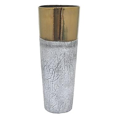 Bloomsbury Market Gray Glazed Ceramic Floor Vase
