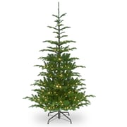 August Grove Feel Real Hinged 7.5' Green Spruce Artificial Christmas Tree
