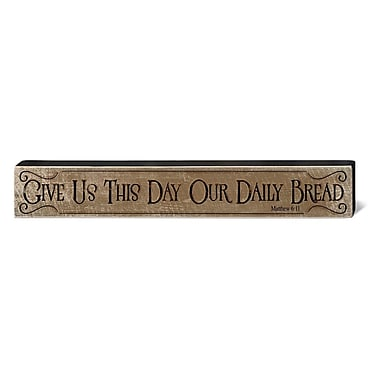 August Grove Our Daily Bread Horizontal Rustic Wood Block Wall D cor