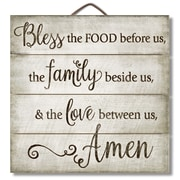 August Grove Bless Horizontal Pallet Wood Sign Wall D cor