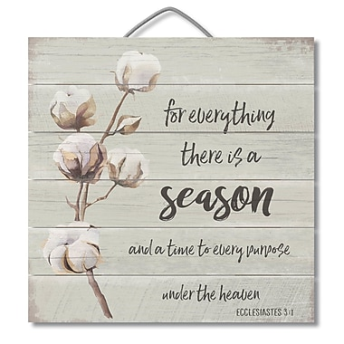 August Grove There Is a Season Horizontal Pallet Wood Sign Wall D cor