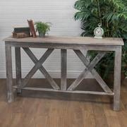 American Mercantile Farmhouse Wood Console Table