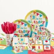 Creative Converting 81 Piece ABC Blocks Birthday Party Supplies Set