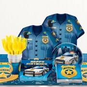 Creative Converting 81 Piece Police Birthday Party Supplies Set