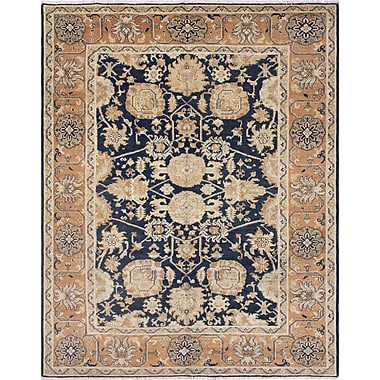 Darby Home Co Leann Hand-Knotted Wool Blue/Brown Area Rug