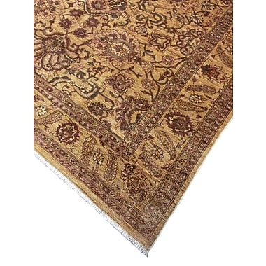 Darby Home Co Leann Hand-Knotted Wool Gold Area Rug