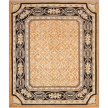 Darby Home Co Leann Hand-Knotted Wool Rust Area Rug