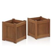 Furinno Tioman Hardwood 2 Piece Planter Box Set