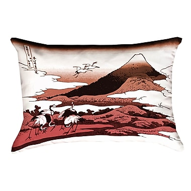Bloomsbury Market Montreal Japanese Cranes Cotton Pillow Cover