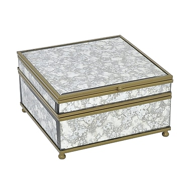 Bungalow Rose Grand Couli Antique Mirror Metal Decorative Box