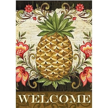 Toland Home Garden Pineapple and Scrolls 2-Sided Garden Flag
