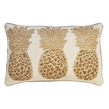 Bay Isle Home Primrose 3 Pineapples 100pct Cotton Lumbar Pillow