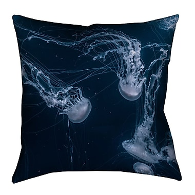 Brayden Studio Nathaniel Jellyfish Square Indoor Euro Pillow