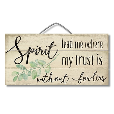 Gracie Oaks Spirit Lead Me Pallet Reclaimed Wood Sign Wall D cor