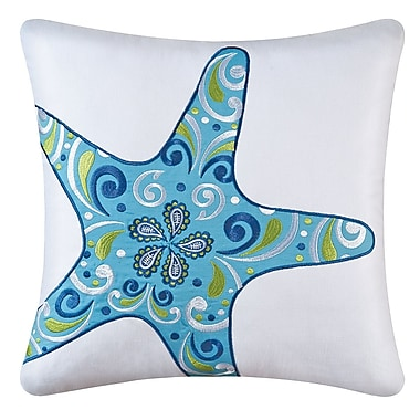 Highland Dunes Danise Starfish Cotton Throw Pillow