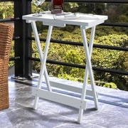 Highland Dunes Holli Wooden Portable TV Snack Tray Table