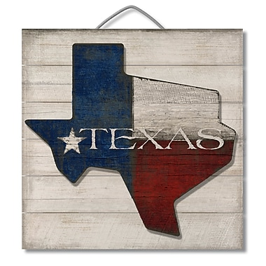 Loon Peak 3D Accent Piece Texas Slatted Pallet Wood Sign Wall D cor