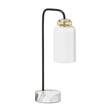 Latitude Run Centers Marble Base 14'' Desk Lamp