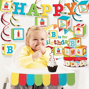 The Holiday Aisle 10 Piece ABC Blocks 1st Birthday Decoration Set