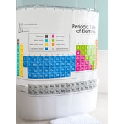 East Urban Home ''Just Chemistry'' H2O Repellent Periodic Table Shower Curtain