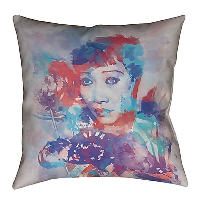 East Urban Home Watercolor Portrait Cotton Pillow Cover; 18'' x 18''