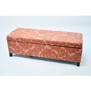 Red Barrel Studio Donahue Flower Upholstered Storage Bench