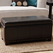 Red Barrel Studio Edmond Faux Leather Storage Bench