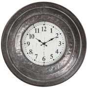 August Grove Croix Distressed Metal 21.5'' Wall Clock