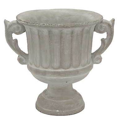 Alcott Hill Cylinder Footed Urn Table Vase; 8.5'' H x 10'' W x 8.25'' D