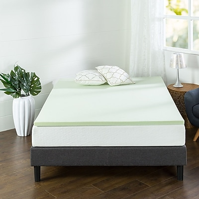 Alwyn Home 1.5'' Gel Memory Foam Mattress Topper ; King