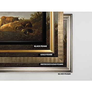 August Grove 'The Small Dort' Rectangle Wood Framed Oil Painting Print on Wrapped Canvas