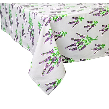 August Grove Maxime Lavender Fields Tablecloth; 102'' W x 60'' L