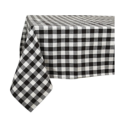 August Grove Arlington Checkered Cotton Tablecloth; 102'' L x 60'' W