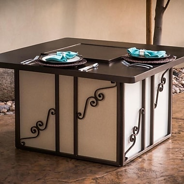 CC Products Regale Steel Propane Gas Fire Pit Table