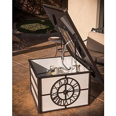 CC Products Fire Time Steel Propane Gas Fire Pit Table