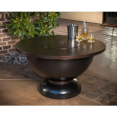 CC Products Modish Bowl Steel Natural Gas Fire Pit Table