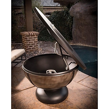 CC Products Onyx Bowl Steel Natural Gas Fire Pit Table