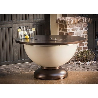 CC Products Enchanted Bowl Steel Propane Gas Fire Pit Table