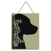 Charlton Home 'I Love My Dog and My Dog Loves Me' Graphic Art