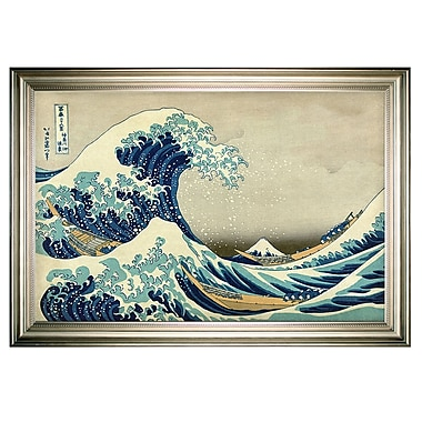 Brayden Studio 'The Great Wave' by Katsushika Hokusai Framed Oil Painting Print on Wrapped Canvas