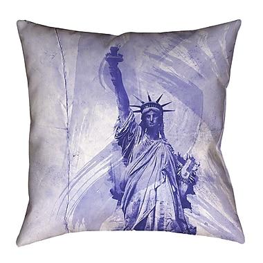 Brayden Studio Houck Statue of Liberty Throw Pillow; 14'' H x 14'' W