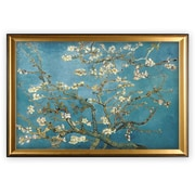 Darby Home Co 'Almond Blossom' by Van Gogh Vertical Framed Oil Painting Print on Wrapped Canvas