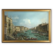 Darby Home Co 'Regatta on Grand Canal' Wood Framed Oil Painting Print on Wrapped Canvas