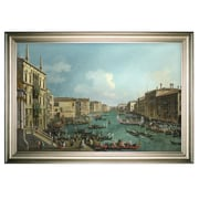 Darby Home Co 'Regatta on Grand Canal' Framed Oil Painting Print on Wrapped Canvas