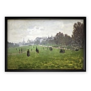 Darby Home Co 'Green Park in London' Rectangle Framed Oil Painting Print on Wrapped Canvas