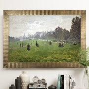 Darby Home Co 'Green Park in London' Rectangle Wood Framed Oil Painting Print on Wrapped Canvas